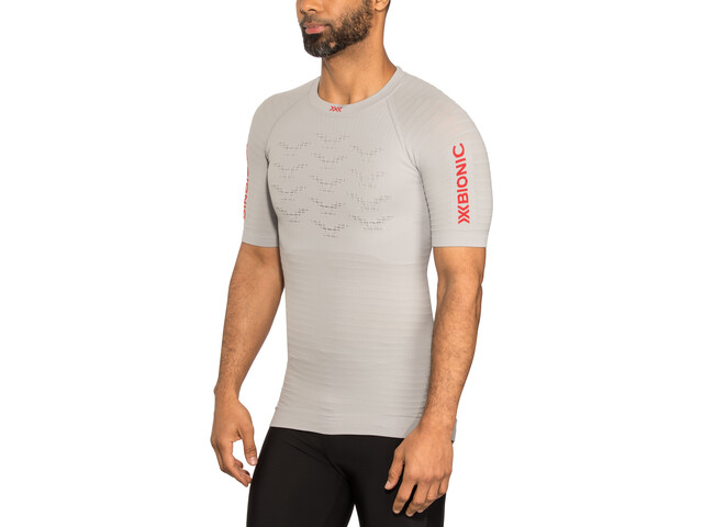 X-Bionic Effektor G2 Camiseta running manga corta Hombre, dolomite grey/sunset orange